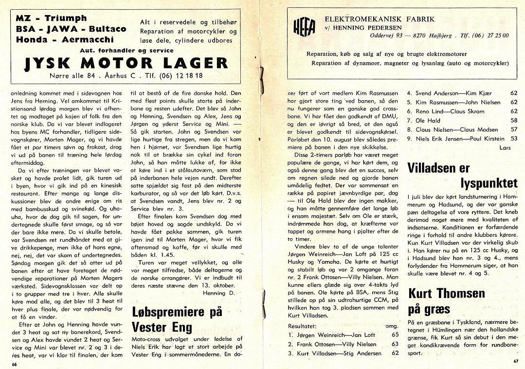 Referat parløbet. Klubblad 1974-09