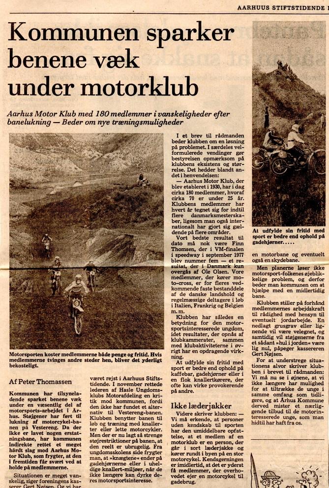 Avisklip 24 dec. 77 Lukning Vester Eng img1