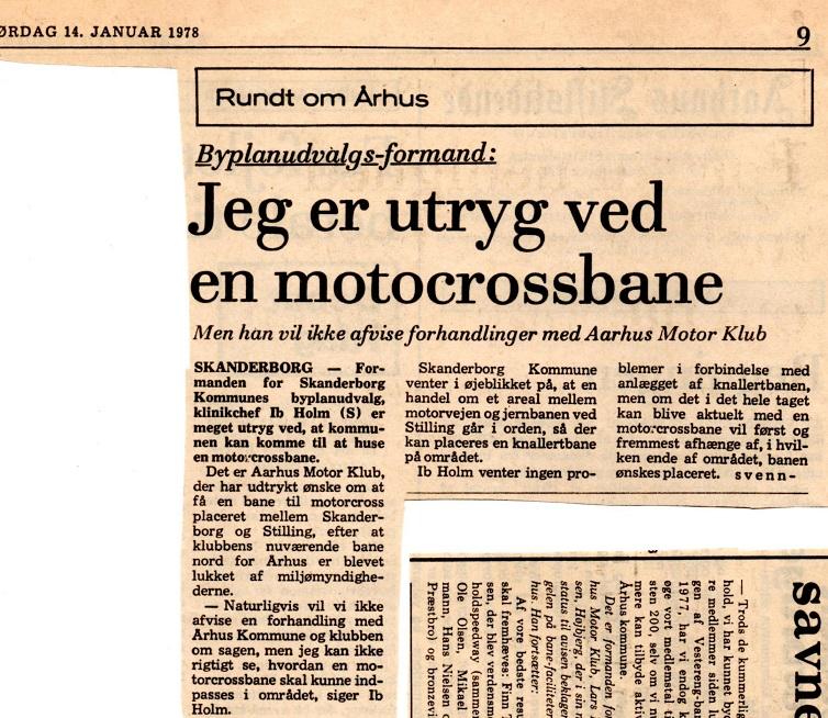 Avisklip Motorklub savner bane og Motorbaneplan 14-01-78 - Kopi