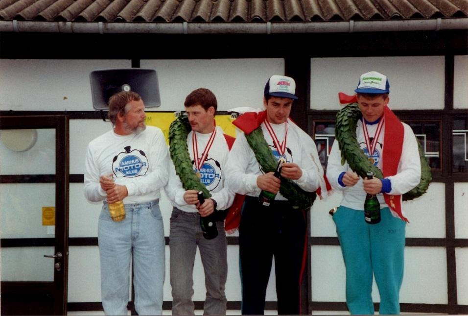 Hold-DM 1991. Niels, Kim, Lars og Povl.