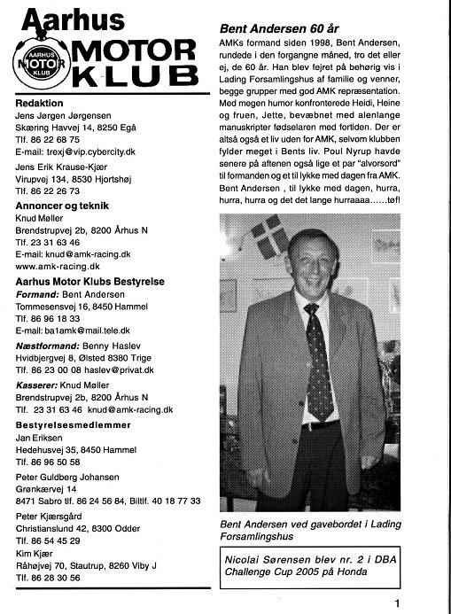 2005-11 Klubblad med en lille fødselsdagsmarkering.