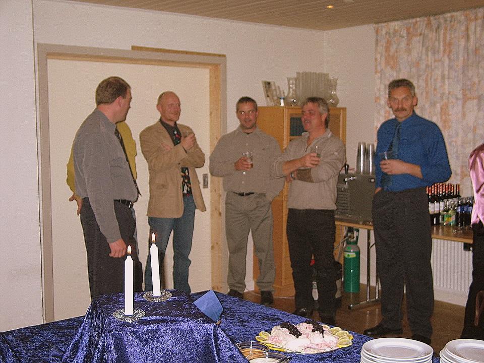 Benny Haslev, Poul Nyrup, Lars Sørensen, Svejk og Kurt Villadsen.