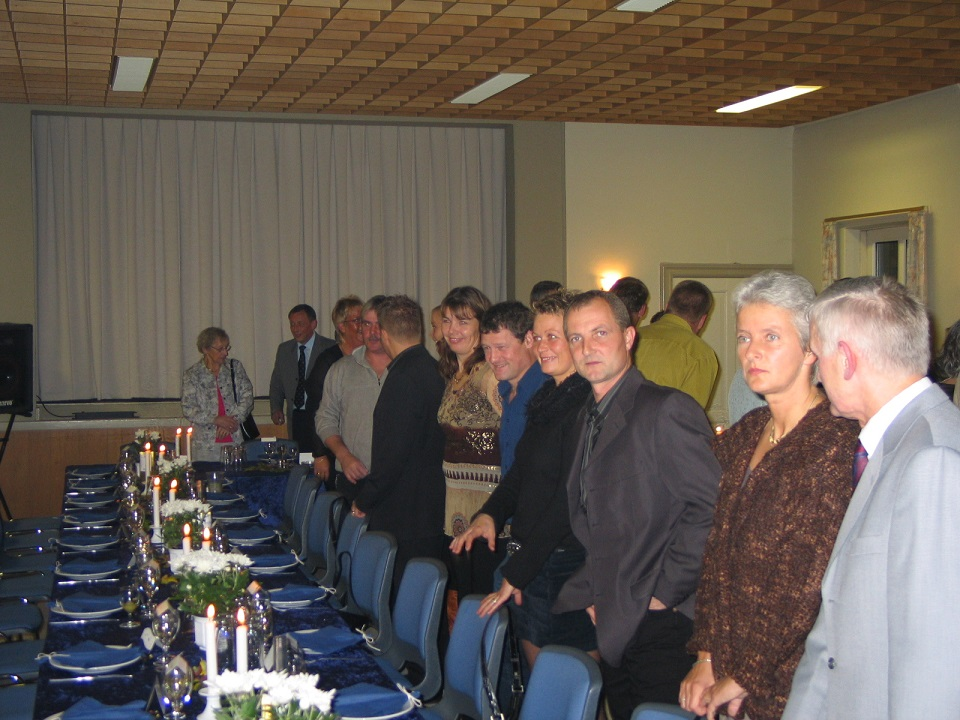 Fra højre Krause, Vibeke, Chris, Anne Mette, Kim Kjær og Merete.