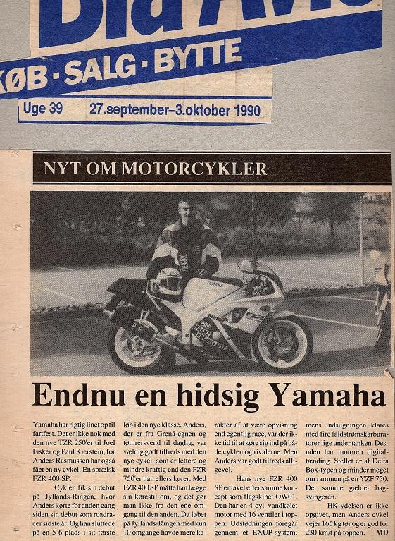 1990-09-27 Blå Avis. Omtale FZR400