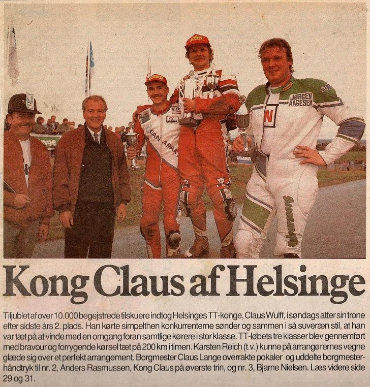 Fin 2. plads til Anders i Helsinge TT. (Helsinge Ugepost).