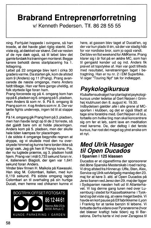 Den lånte artikel fra Touring Nyt. 1994-08 Klubblad img2