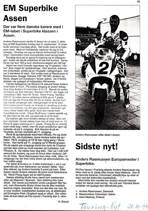 1994-10-28 Touring Nyt. Henning Brønds artikel