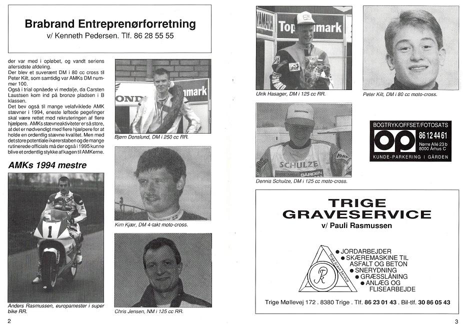 1995-01 img1. Europamesterskabet blev markeret i AMK´s klubblad.