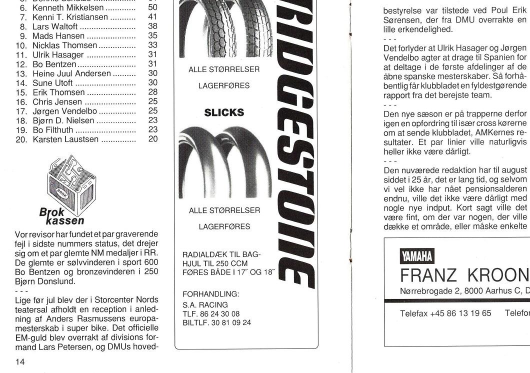 1995-02 img1. Klubbladet lavede også en kort omtale af markeringen af EM´et i Storcenter Nord.