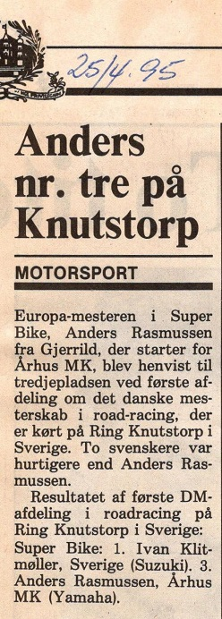 Anders deltog i enkelte afdelinger af DM 1995. 1995-04-25 Amtsavisen Randers