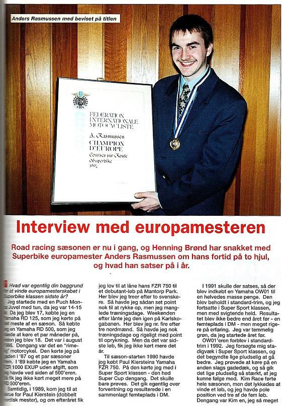 Henning Brønd lavede dette interview til Touring Nyt. 1995-05 Touring Nyt img1