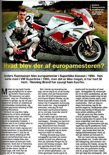 Henning Brønd lavede et interview til Touring Nyt om sæsonen 1995 img1