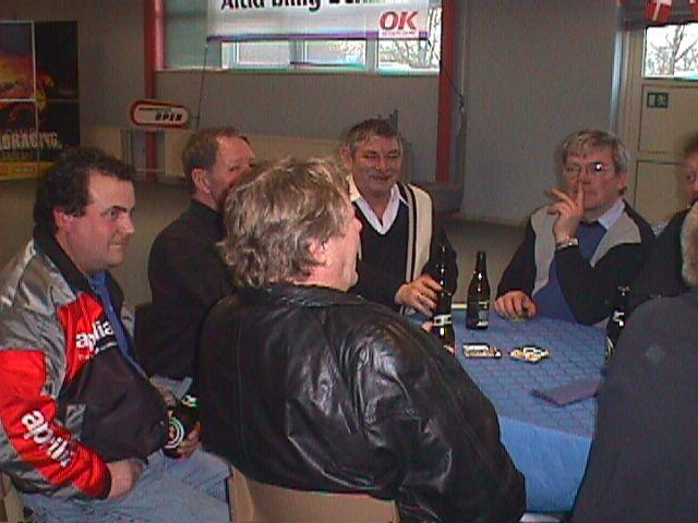 Niels Sejr, Preben Bollerup, Service og Mini. Kurt Thomsen med ryggen til.