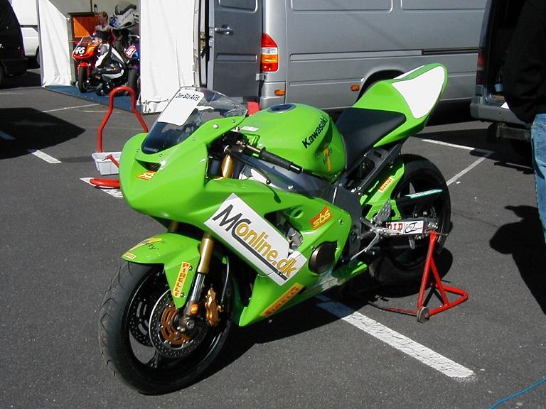 Anders skulle køre denne Kawasaki. Img1