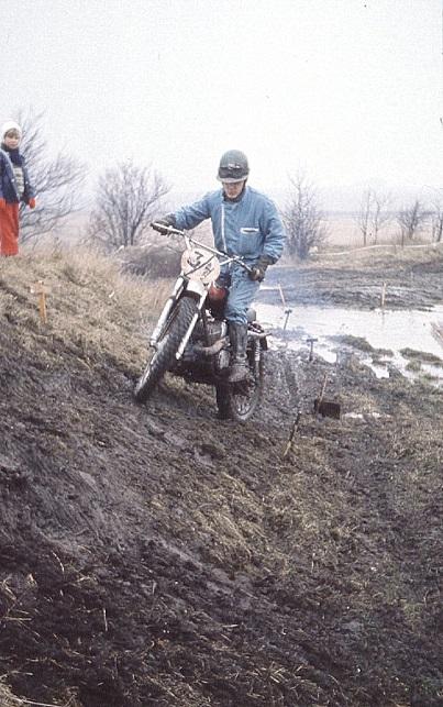 Carsten Jørgensen på Kawasaki Cross 1971.