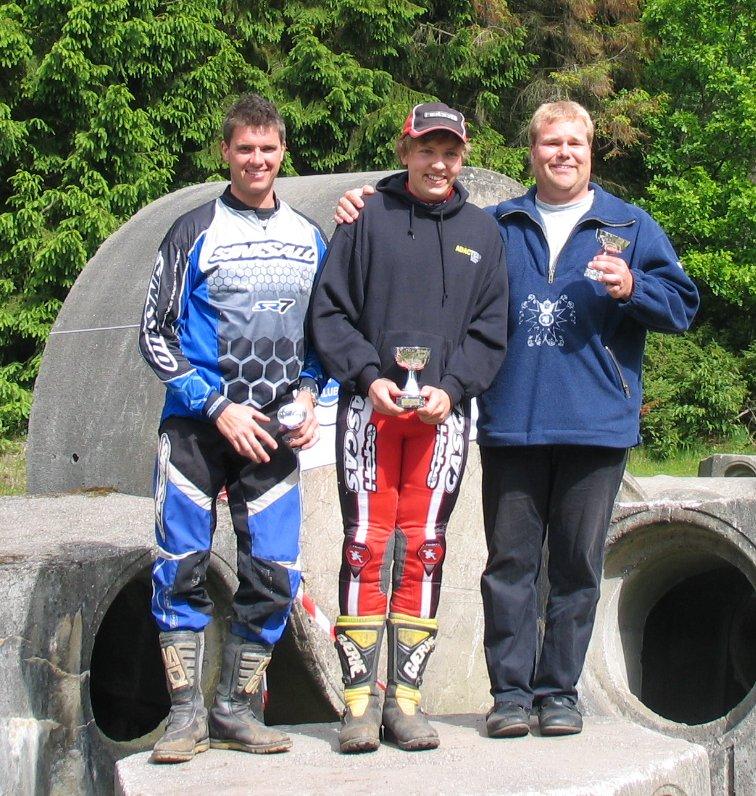 Niels Nicolaisen vandt Elite foran Mark Schütt th og Thomas Pedersen tv