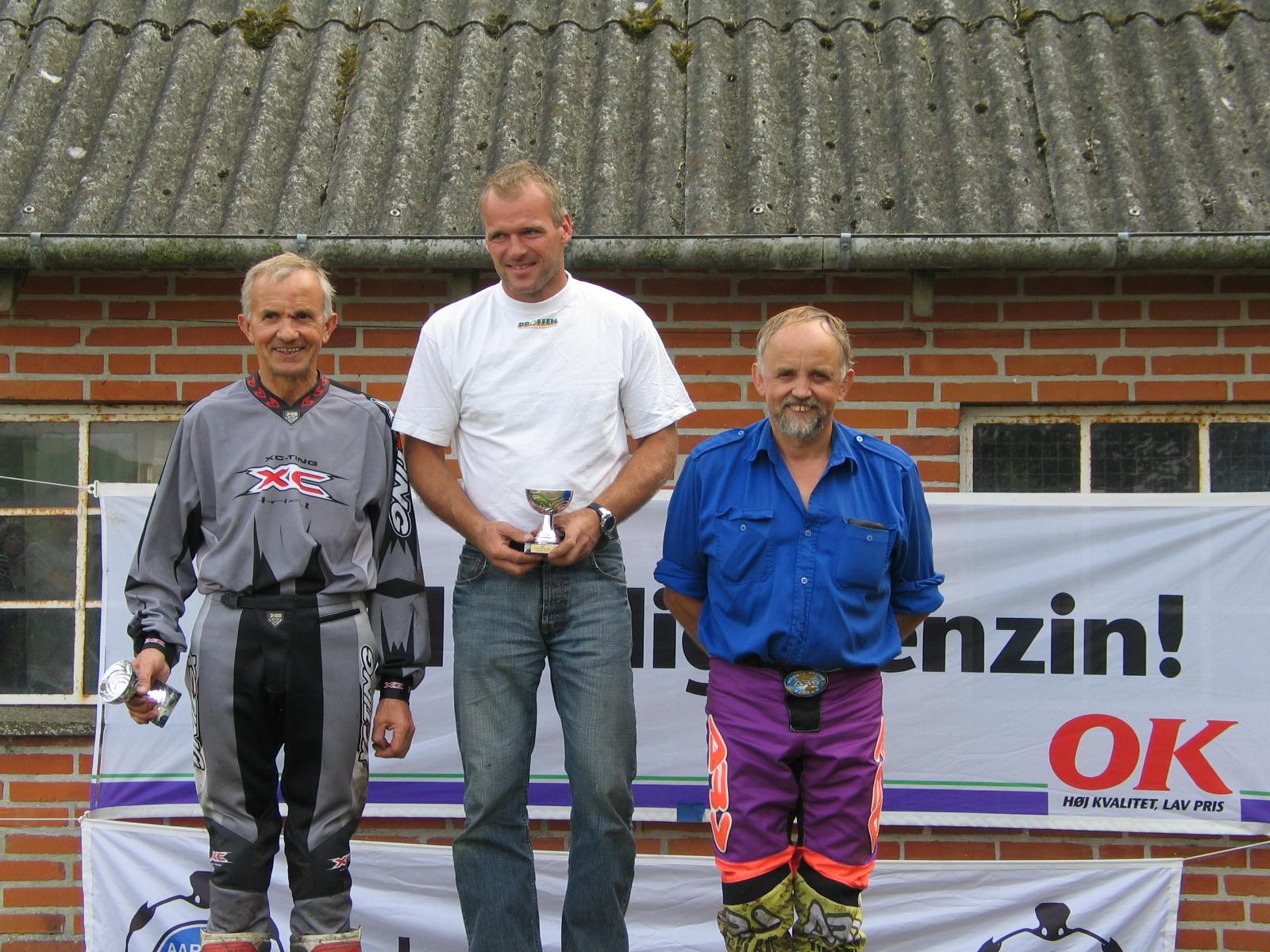 Classic. John Mørch vandt foran Erik Scherning tv og Johannes Scherning th.