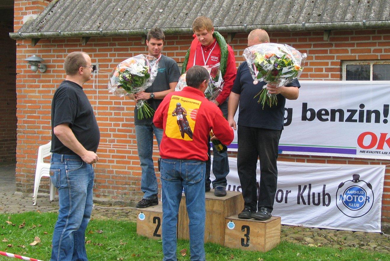 Årets danmarksmester Niels Nicolaisen, Thomas Pedersen 2, Mark Schütt 3.