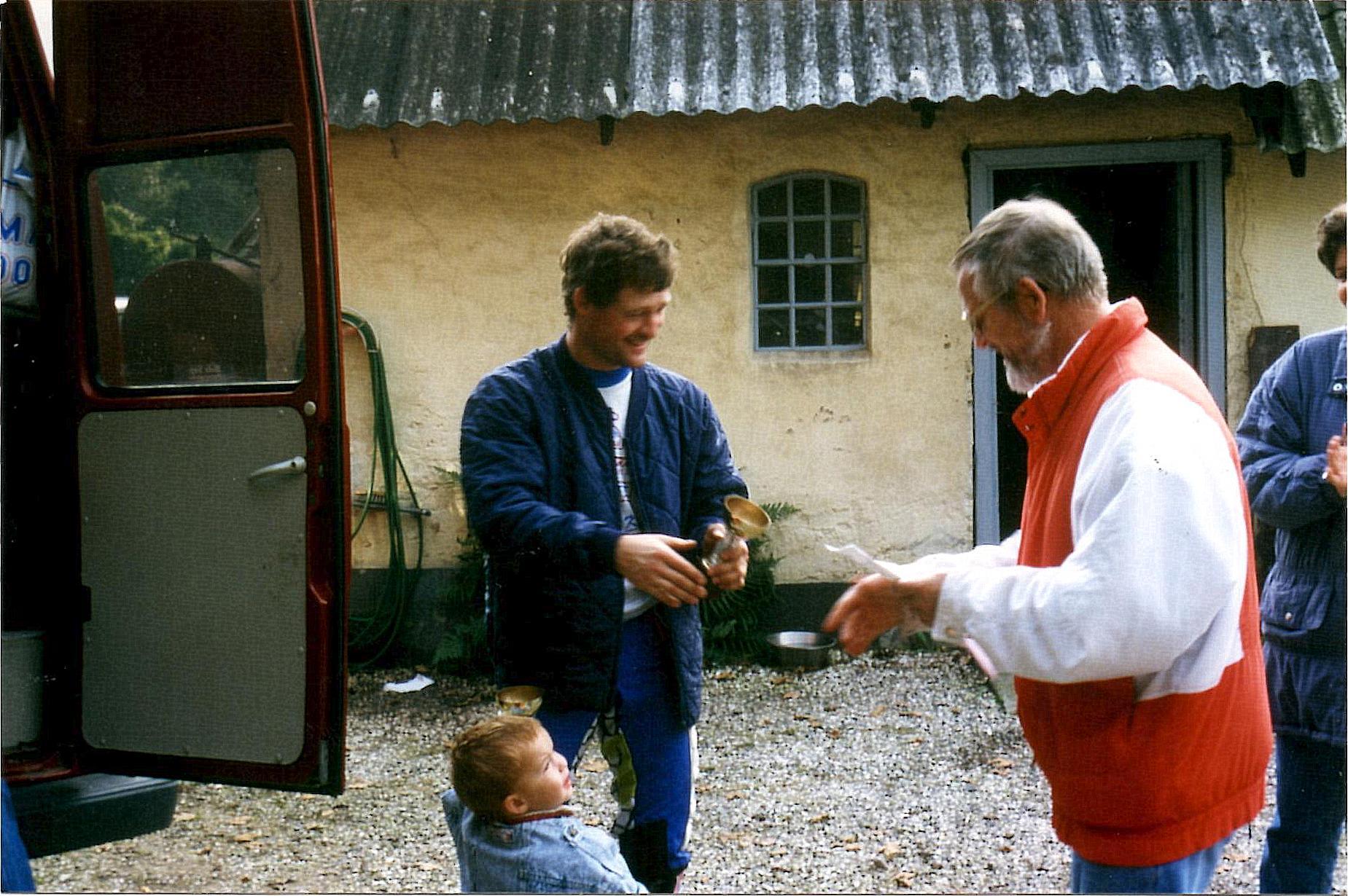 AMK trial Sabro 25 sept. 94.  Kim Kjær og Niels Laustsen.