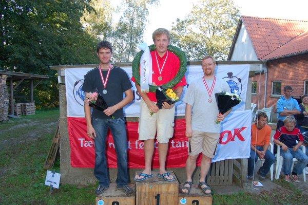 DM Elite. Niels foran Thomas  og Jesper Antonsen