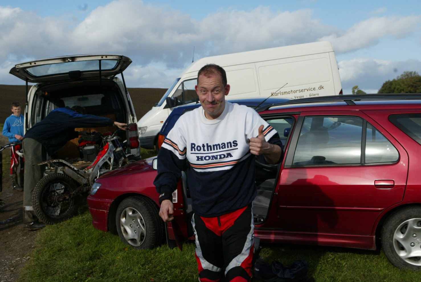 En Rotmans Honda mand