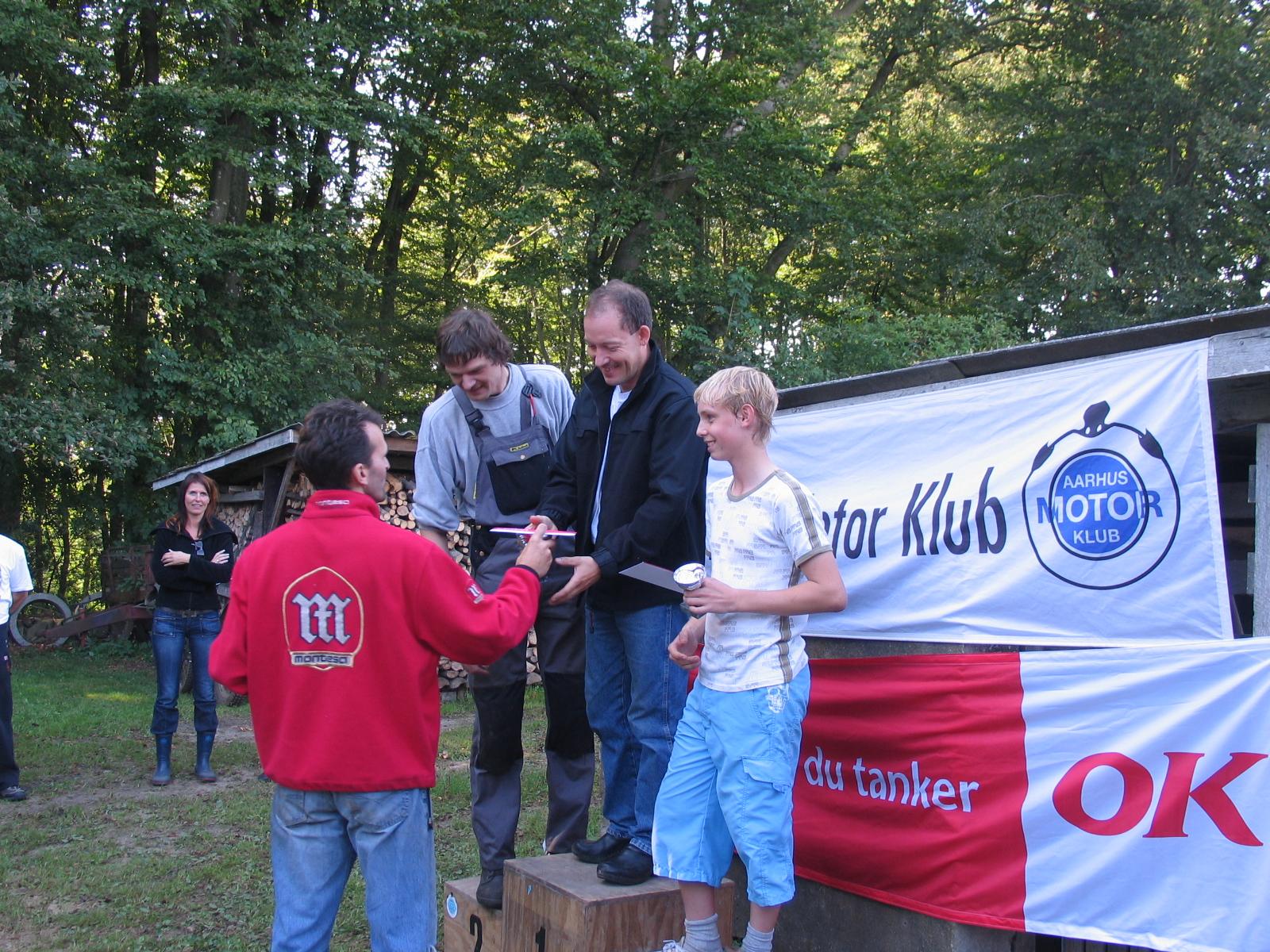 Michael Andersen vandt C foran Jens P. Andersen og Mikkel Kristiansen.