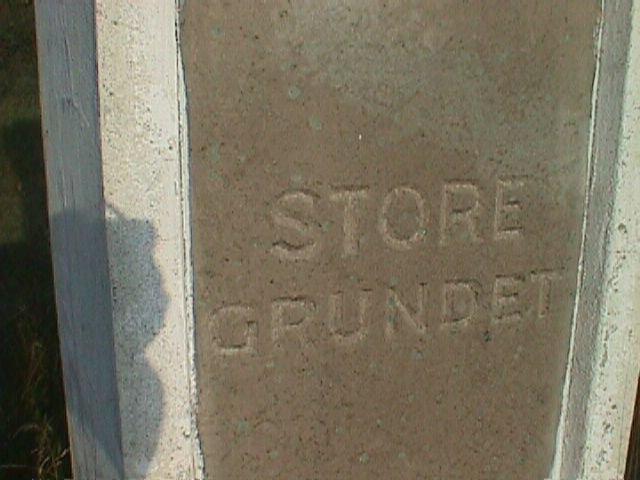 Store Grundet indgraveret i portalstenen.