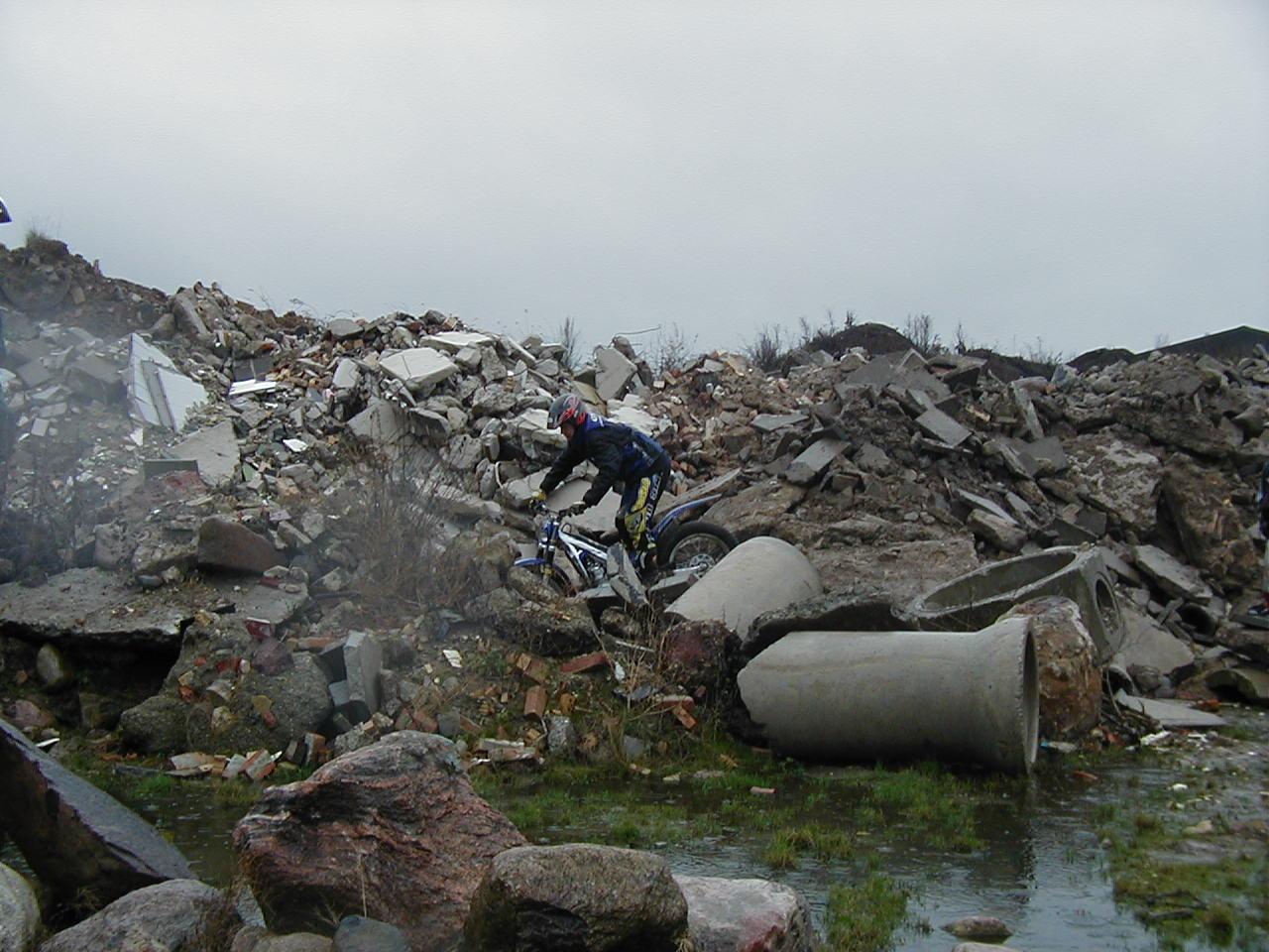 Masser af betonaffald