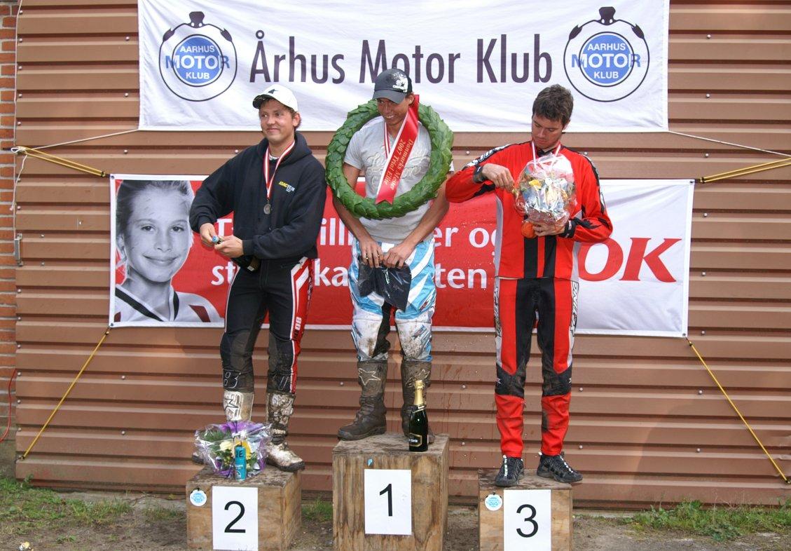 DM-podiet i Eliteklassen. Gregers vandt foran Niels Nicolaisen og Thomas Pedersen