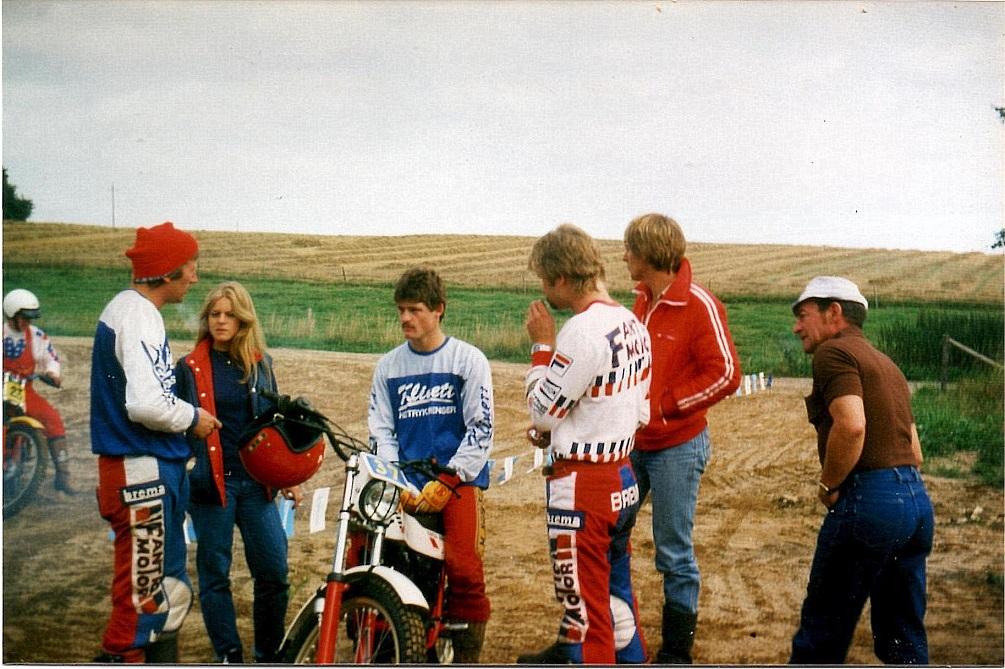 Lille Grundet 29-8-82. Fra venstre Vedel, Gry og Kim Kjær. Vagn Kjær th.